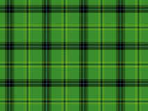 Green Scottish tartan Stock Photography
