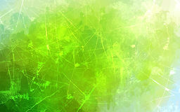 Green scratch brush strokes background. Stock Image