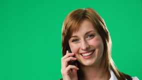 Green Screen Footage of a woman on the phone Stock Photos
