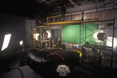 Green screen Scene from set of 'Temptation'. Feature film, Miami, FL Royalty Free Stock Images