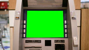 Green screen for your ad at ATM machine Royalty Free Stock Photos