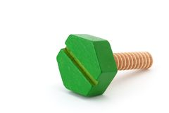 Green screw Stock Photos