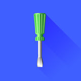 Green Screwdriver Royalty Free Stock Images