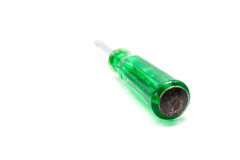 Green screwdriver Royalty Free Stock Photo