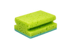 Green scrubbing sponge Stock Photo