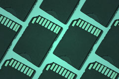 Green SD card background Stock Photos