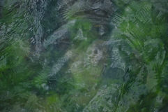 Green sea abstract background with small waves Royalty Free Stock Photo