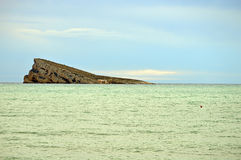 Green Sea And Benidorm Island Stock Image