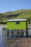 Green sea hut, Royalty Free Stock Photo