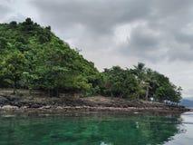 Green on Sea. Klara beach Lampung Indonesia Royalty Free Stock Photos