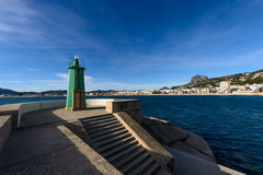 Green sea light Royalty Free Stock Photo
