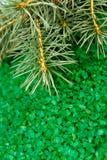 Green sea salt background Stock Images