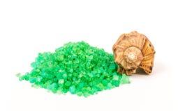 Green sea salt Stock Photos