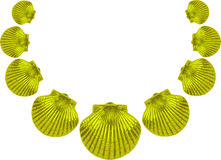 Green sea shell necklace Stock Image
