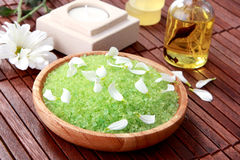 Green sea spa salt Stock Photo