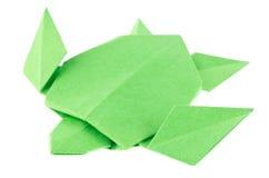 Green sea turtle of origami. Stock Image
