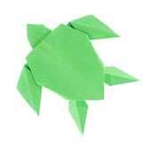 Green sea turtle of origami Stock Photo