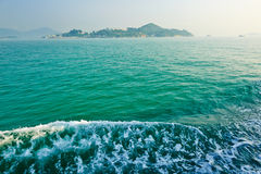 Green sea water and spindrift Royalty Free Stock Photo