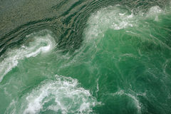 Green sea water. Turbulent by the boat emgine Royalty Free Stock Image