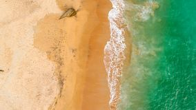 Green sea waves Arial View royalty free stock photos