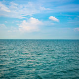Green sea with waves Royalty Free Stock Photography