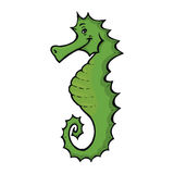 Green seahorse Stock Images