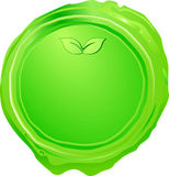 Green seal Royalty Free Stock Image
