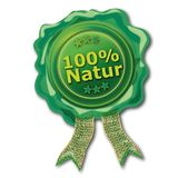 Green seal 100% natural. Ecology royalty free illustration