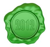 The green sealing wax stamp. Stock Photography
