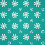 Green Sealmess Flower Pattern Stock Image