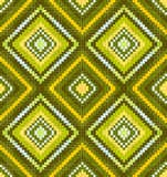 Green seamless abstract african ethnic ornament. Seamless abstract african ethnic ornament. Vector illustration Royalty Free Stock Images