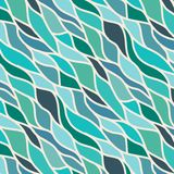 Green seamless abstract hand-drawn pattern Stock Image