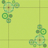 Green seamless background. With circles Stock Photos