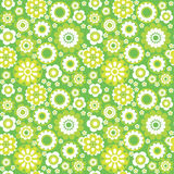 Green seamless background. Green flower summer seamless background Royalty Free Stock Photography