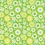 Green seamless background. Green flower summer seamless background Vector Illustration