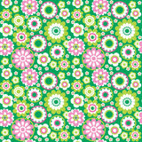 Green seamless background2. Green flower summer seamless background Royalty Free Stock Photo