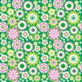 Green seamless background2. Green flower summer seamless background Royalty Free Illustration