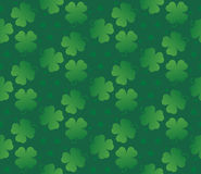 Green seamless clover pattern Royalty Free Stock Photos