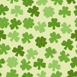 Green seamless clover pattern Stock Image