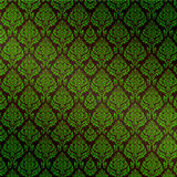 Green Seamless Damask Stock Photography