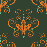 Green seamless floral ornament. Vector. Royalty Free Stock Photography