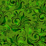 Green seamless floral pattern Royalty Free Stock Photography