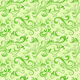 Green seamless floral pattern Royalty Free Stock Photos