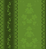 Green seamless floral template Royalty Free Stock Photography