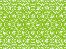 Green Seamless Flower Background Stock Image