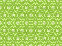 Green Seamless Flower Background