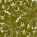Green seamless flower damask background Royalty Free Stock Image