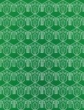 Green seamless flower pattern Stock Photos