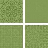 Green seamless grid pattern set Stock Photos
