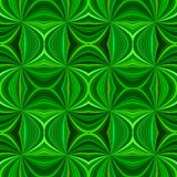 Green seamless hypnotic abstract swirl stripe pattern background. Vector ray burst graphic stock illustration